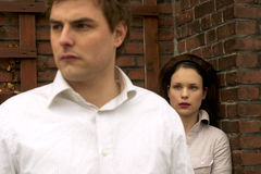 Couples blancs Image libre de droits