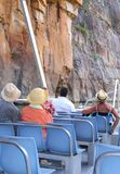 Couples in a cruise boat at the river in Katherine Gorge,Australia Stock Photography