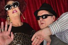 Couples célèbres dans des lunettes de soleil Photos libres de droits
