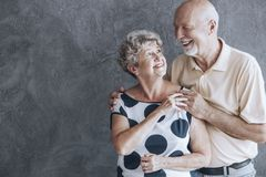 Couples célébrant l'anniversaire image libre de droits