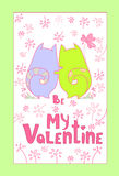 Couples Cat Banner With Copy Space d'amour de Valentine Day Gift Card Holiday Images stock