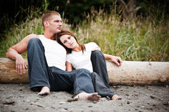 Couples caucasiens Images stock