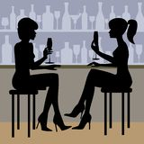 Couples with champagne glasses Royalty Free Stock Image