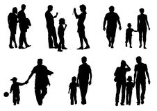 Couples with children Royalty Free Stock Images