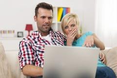 Couples choqués Images libres de droits
