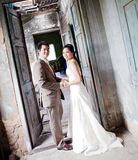 Couples at church stock photos