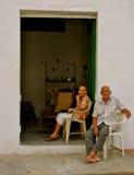 Couples colombiens pluss âgé heureux Photos libres de droits