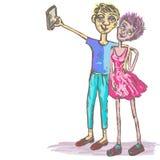 Couples comiques Photo libre de droits