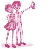 Couples comiques Photographie stock