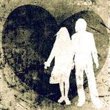 Couples, conception de valentine Image libre de droits