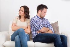 Couples contrariés Photographie stock