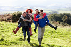Couples on country walk Royalty Free Stock Photography