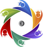 Couples crown logo Royalty Free Stock Image