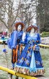 Couples déguisés Photos libres de droits