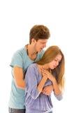 Couples démontrant la procédure de premiers secours pour photo libre de droits