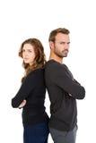 Couples déprimés se tenant de nouveau au dos Photographie stock libre de droits