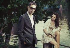 Couples d'élégance Photographie stock