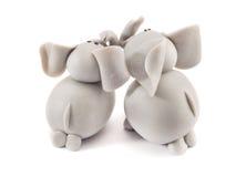Couples d'éléphant Images stock