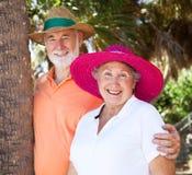 Couples d'aîné d'été Image libre de droits