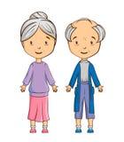 Couples d'aîné de bande dessinée Photos libres de droits