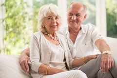 Couples d'aîné de beauté Photographie stock libre de droits