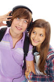 Couples d'adolescent Photos libres de droits