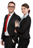Couples d'affaires Photographie stock libre de droits