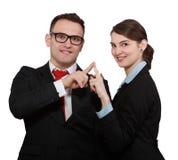 Couples d'affaires Image libre de droits