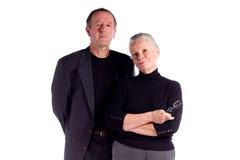 Couples d'affaires mûres Photo stock