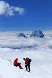 Couples d'altitude de montagnes de Caucase Images libres de droits