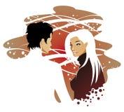 Couples d'amour illustration de vecteur