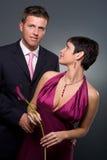 Couples d'amour au jour de Valentine Photos stock