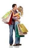 Couples d'amour d'achats Photographie stock