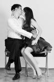 Couples d'amour dans le baiser Image libre de droits