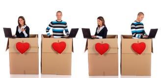 Couples d'amour de Chatbox Images libres de droits
