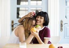 Couples d'amour de femmes jouant ensemble Photographie stock libre de droits