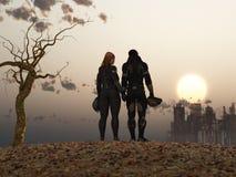Couples d'apocalypse de poteau Photos libres de droits
