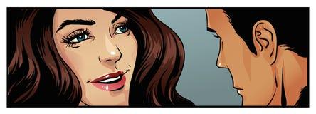Couples d'art de bandes dessinées Photo stock