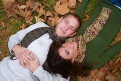 Couples d'automne photographie stock