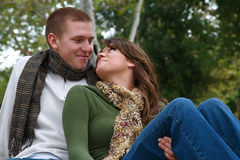 couples d'automne Photos stock