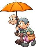 Couples d'Eldery illustration de vecteur