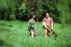 Couples d'histoire d'amour de vintage Photo stock