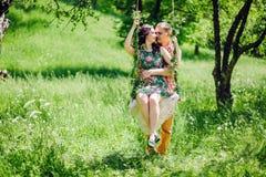 Couples d'histoire d'amour de vintage Image stock