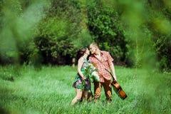 Couples d'histoire d'amour de vintage Photo libre de droits