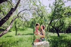 Couples d'histoire d'amour de vintage Photographie stock libre de droits