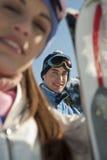 Couples d'hiver Image libre de droits