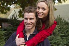 Couples d'hiver Photographie stock libre de droits