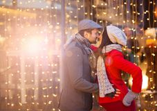 Couples d'hiver Image stock