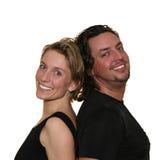 Couples d'isolement de nouveau au dos photos libres de droits