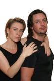 Couples d'isolement sérieux Images libres de droits